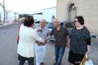 Al Bano Carrisi inizia a salutare tutti gli ospiti della Masseria del Duca