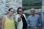 Il saluto di Al Bano tra Viviana e Aldo Cassese