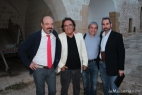 Da sinistra Pino Aprile, Al Bano Carrisi, Tonio Attino e Giancarlo Costabile