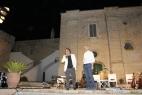 Sul palco della Masseria del duca, Al Bano e Gianpaolo Cassese