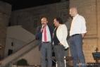 Sul palco della Masseria del Duca, Pino Aprile, Al Bano e Gianpaolo Cassese