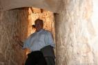 Alberto Marcomini nella torre della Masseria del Duca