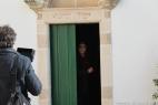 Enzo Decaro all'interno della chiesetta della Masseria del Duca