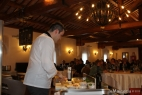 Lo Chef Gennaro Esposito per lo show cooking inMasseria