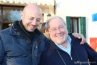 Gianpaolo Cassese con il grande Alberto Marcomini, il guru del formaggio