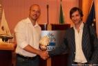 Gianpaolo Cassese insieme ad Antonio Prota, Presidente del Gal Colline Joniche