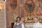 George Maffeo nella Chiesa della Masseria del Duca