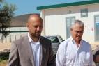 George Maffeo, Vice-Presidente Supplier Boeing, nella corte della Masseria del Duca insieme a Gianpaolo Cassese, Amministratore della Società Agricola F.lli Cassese