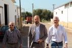 Aldo e Gianpaolo Cassese accompagnano Mr.Maffeo a visitare l'impianto di biogas