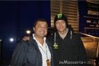 Il nostro Massimo Telese con Valentino Rossi