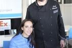 Lo Chef Paolo Mannetti con la nostra Viviana Vergine