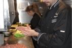 Lo Chef Paolo Mannetti prepara il pranzo pugliese al MotoGP