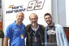 Gianpaolo Cassese con il telecronista Guido Meda e Giovanni Chirulli