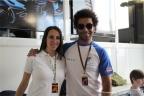 Viviana Vergine con Danilo Petrucci, del team Ioda