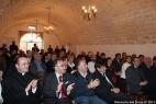 In primo piano, da sinistra, don Marco Gerardo, Francesco Laddomada, Consigliere regionale, Giuseppe Laddomada, sindaco di Crispiano, Dario Stèfano, assessore regionale