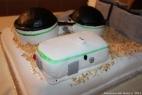 La prima torta al mondo che riproduce un impianto di biogas! Sala motori, digestori e vasche per il digestato in buonissimo cioccolato!