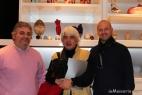 Vincenzo Del Monaco in rappresentanza dell'omonima e prestigiosa bottega di ceramica, con Angelo Maria Perrino, direttore responsabile del noto quotidiano on line Affaritaliani.it e Gianpaolo Cassese ideatore del fortunato brand inMasseria