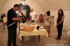 Degustazione del prodotti inMasseria per il Press Tour dei giornalisti del Sole24Ore, Gambero Rosso e Canale Italia