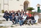 Tutto lo staff di Linea Verde posa per noi in una inusuale foto di gruppo