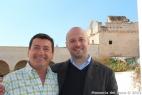 Gianpaolo Cassese, amministratore della Società Agricola F.lli Cassese col conduttore di Linea Verde, Fabrizio Gatta
