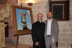 don Francesco Simone, parroco di San Simone in Crispiano, con Gianpaolo Cassese